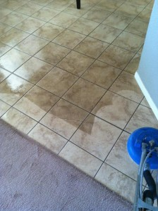 Tile Cleaning before and after 2