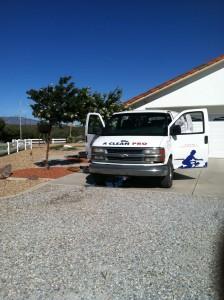 Van in Pinon Hills