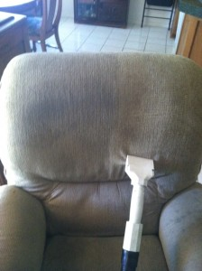 Upholstery Chair During Cleaning